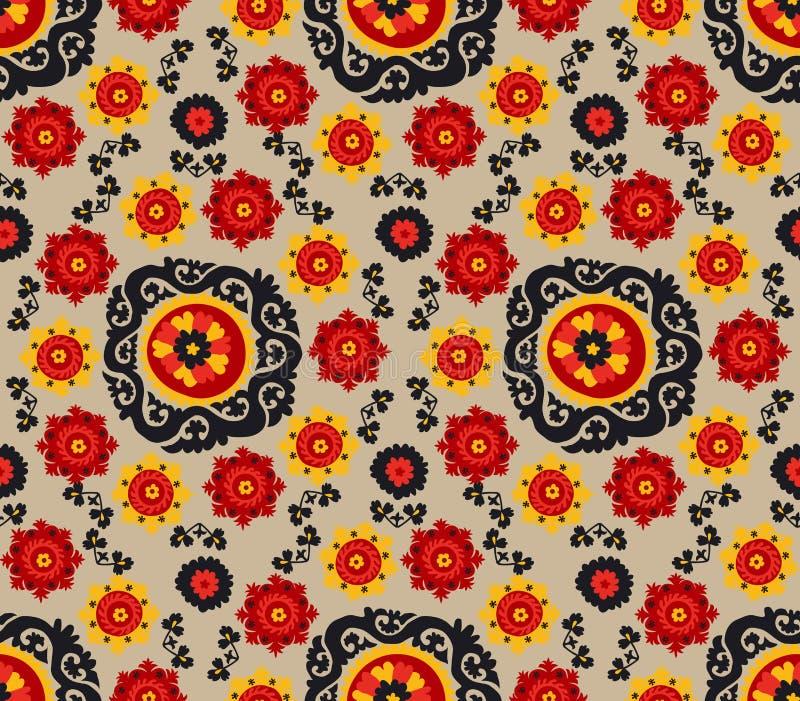 Bordado asiático tradicional Suzane do tapete ilustração royalty free