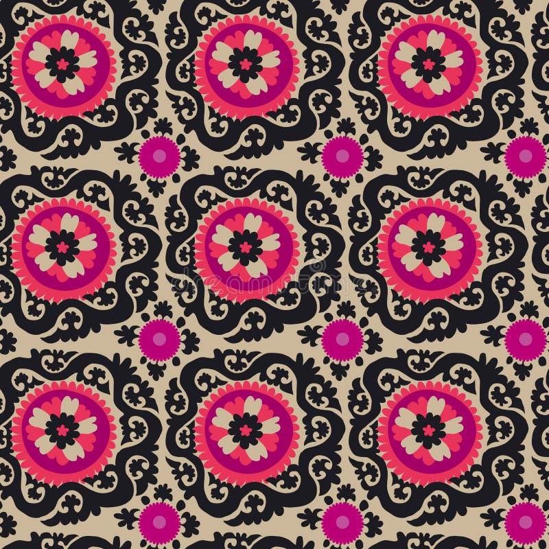 Bordado asiático tradicional Suzanne do tapete ilustração stock