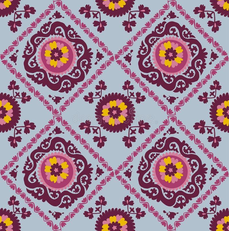 Bordado asiático tradicional Suzanne do tapete ilustração royalty free