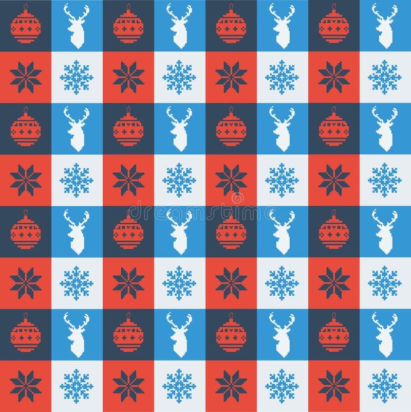 Bordado do Natal imagens de stock