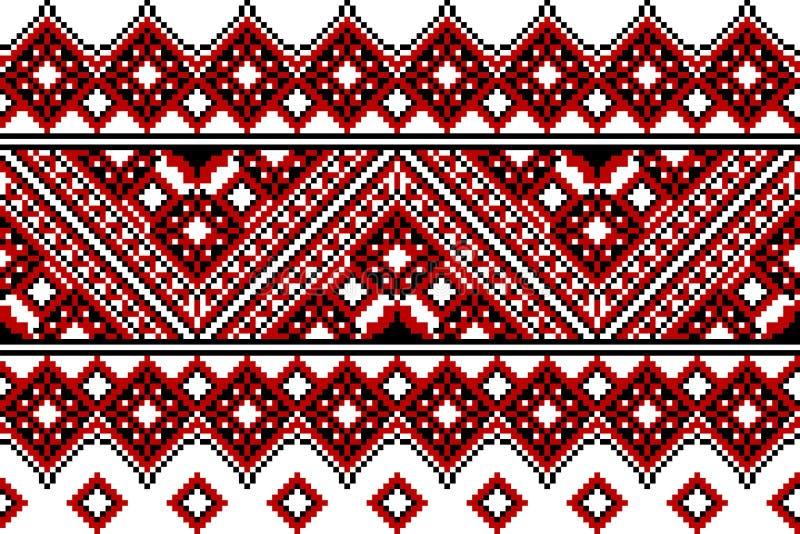 Bordado ucraniano étnico ilustração do vetor