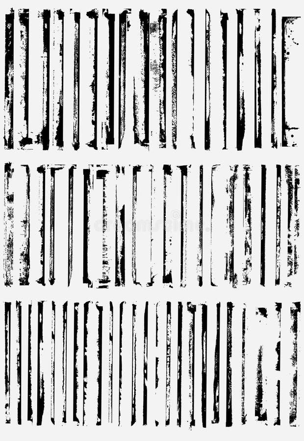 Bordas da beira de Grunge ilustração do vetor