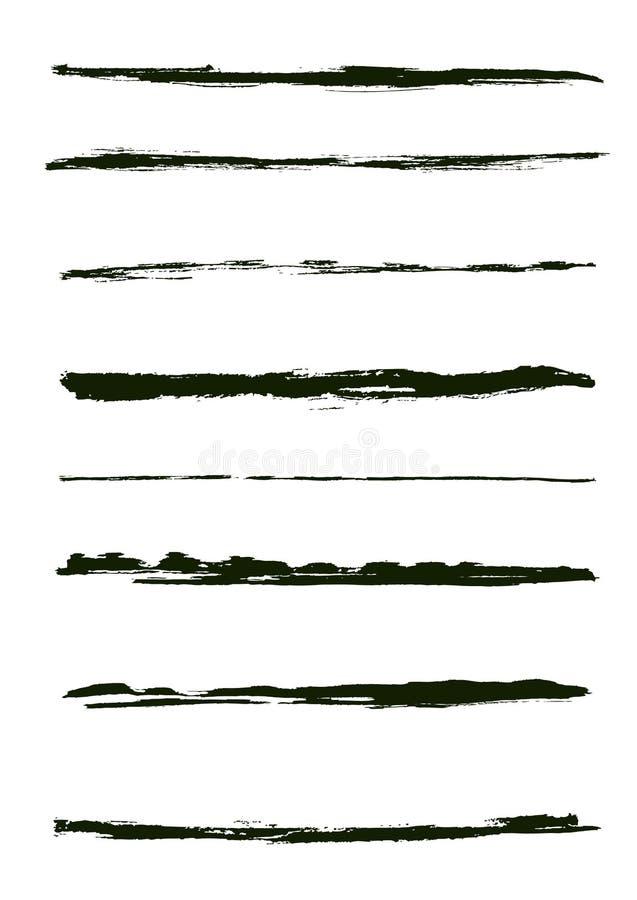Bordas do vetor de Grunge ilustração stock