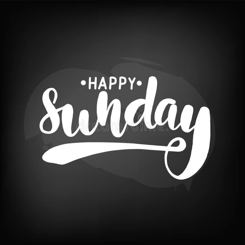 Bordbord die gelukkige zondag van letters voorzien royalty-vrije illustratie