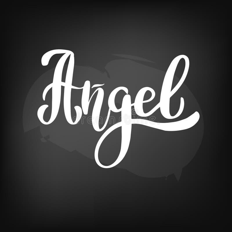 Bordbord het van letters voorzien engel royalty-vrije illustratie