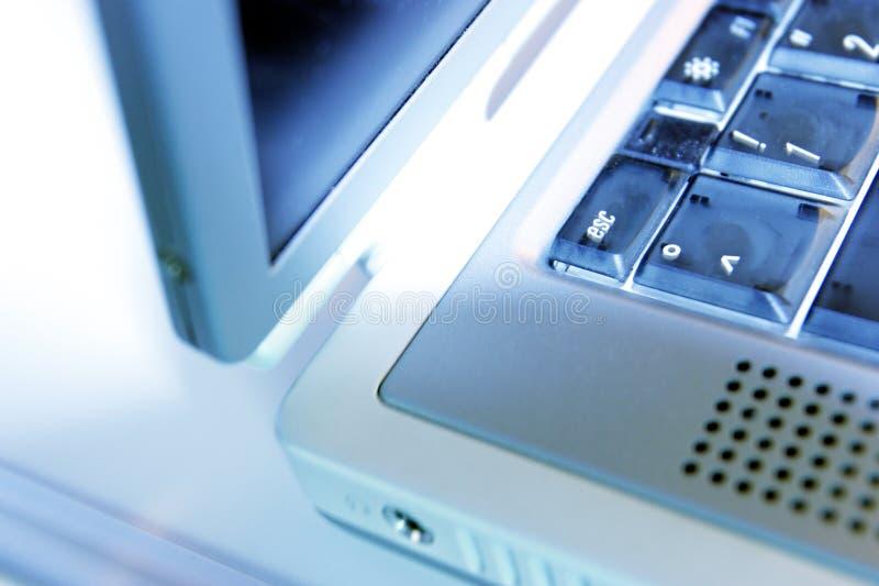 Borde de la computadora portátil fotos de archivo