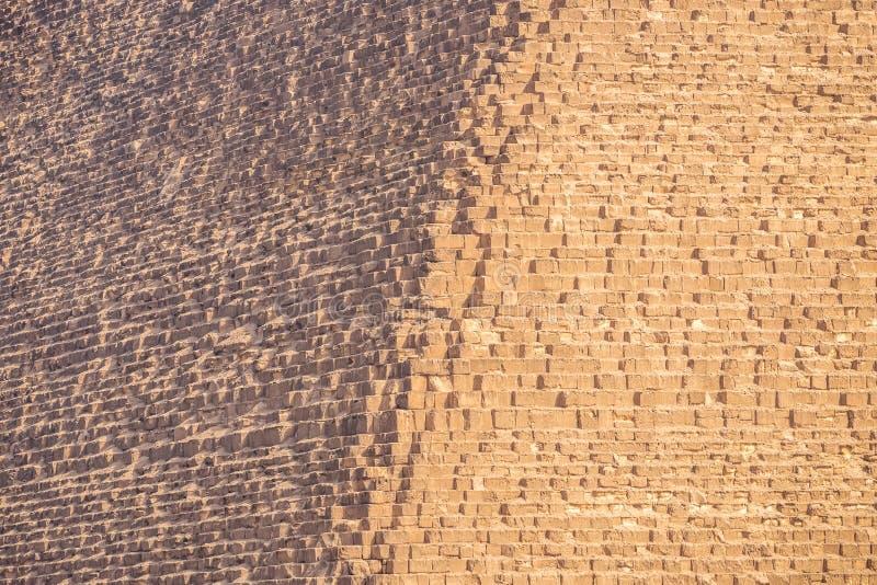 Borde de la gran pirámide de los cheops fotografía de archivo libre de regalías
