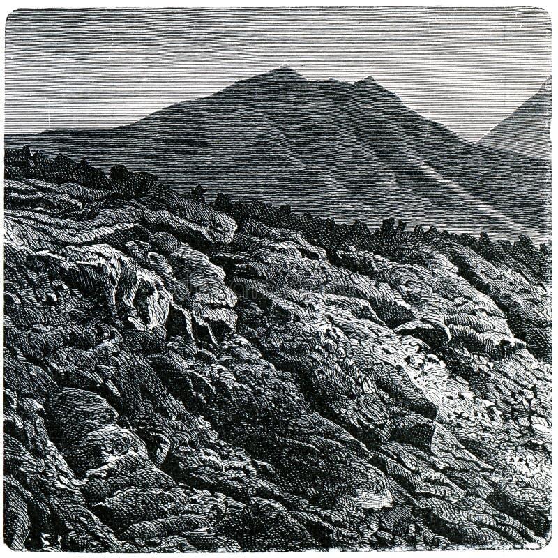 Borde de un flujo de lava de Vesuvio imagen de archivo libre de regalías