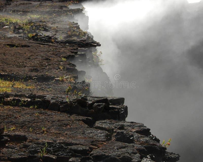Borde del cráter imagen de archivo