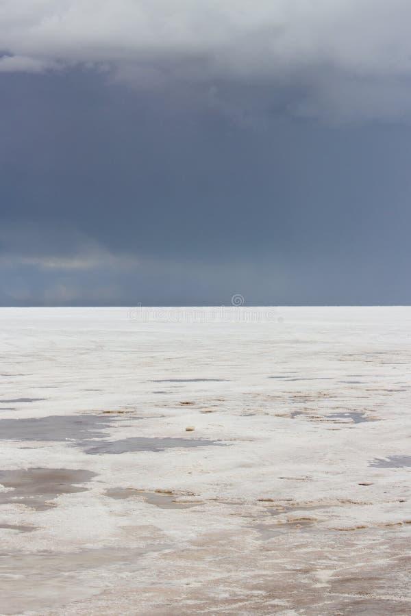 Borde del mundo, planos Salar De Uyuni Bolivia de la sal fotografía de archivo libre de regalías