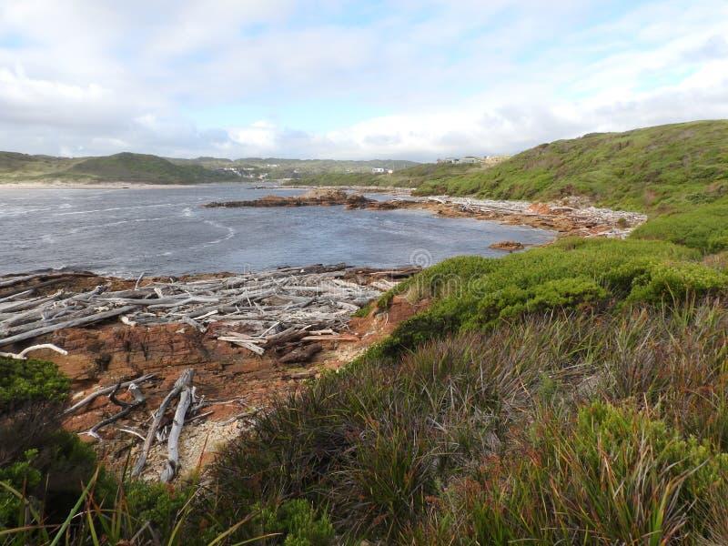 Borde del mundo, Tasmania fotografía de archivo