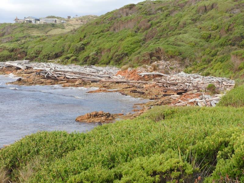 Borde del mundo, Tasmania foto de archivo