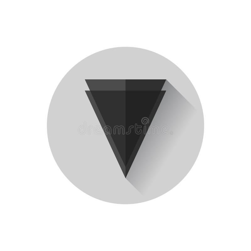 Borde plano del diseño ilustración del vector