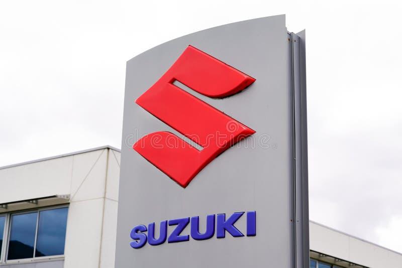 Bordeaux , Akwitania / Francja - 10 02 2019 : Suzuki: motocyklowe międzynarodowe korporacje japońskie i produkujące motocykle fotografia royalty free