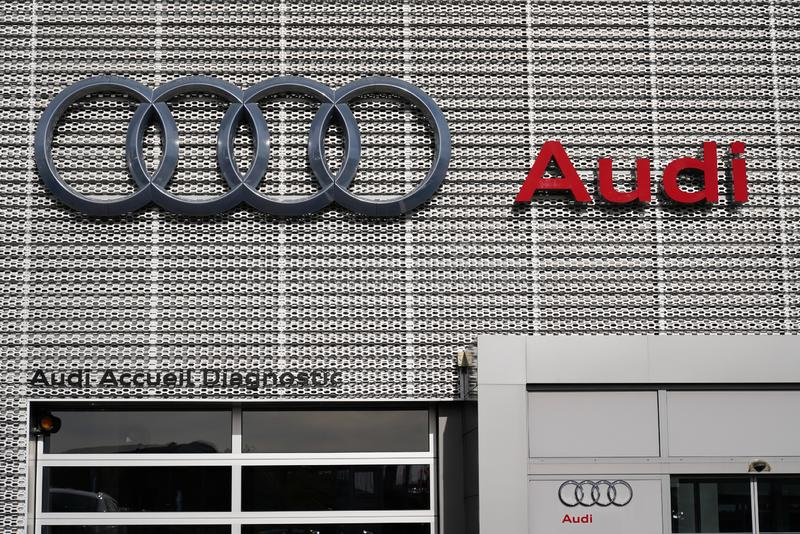 Bordeaux , Aquitaine / France - 10 27 2019 : Audi Car Sign shop dealership store vehicle logo. Bordeaux  , Aquitaine / France - 10 27 2019 : Audi Car Sign shop royalty free stock images