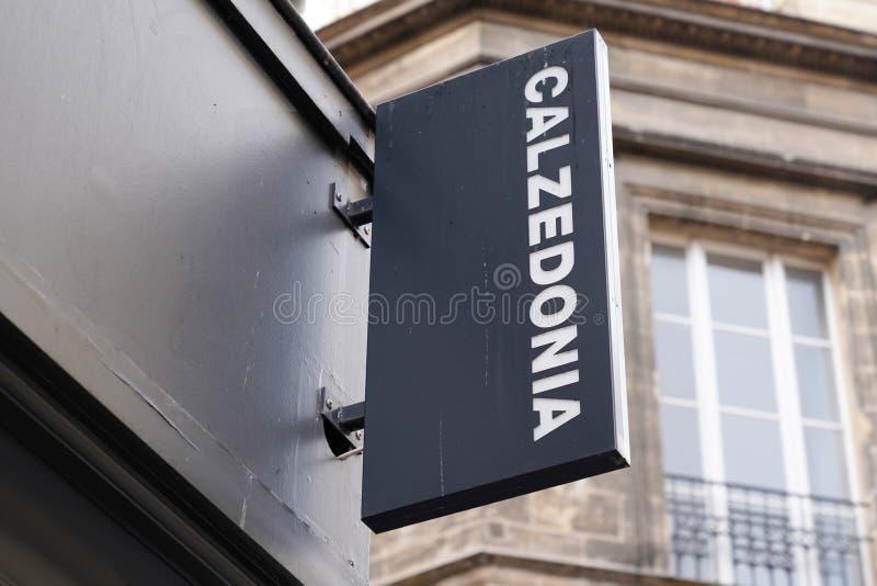 Bordeaux , Aquitaine / France - 11 07 2019 : Calzedonia store italian logo sign shop manufacturer of lingerie stock photos