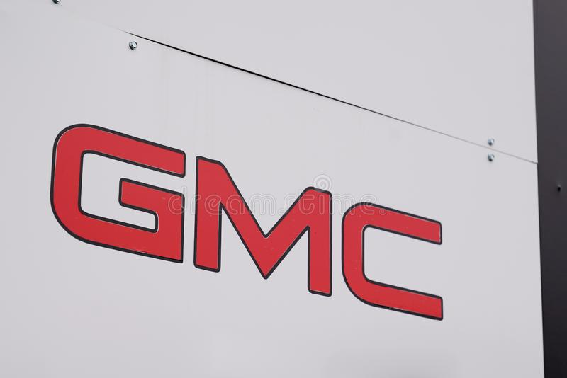 Bordeaux , Aquitaine / France - 10 17 2019 : GMC car Automobile shop Dealership Sign store logo royalty free stock images