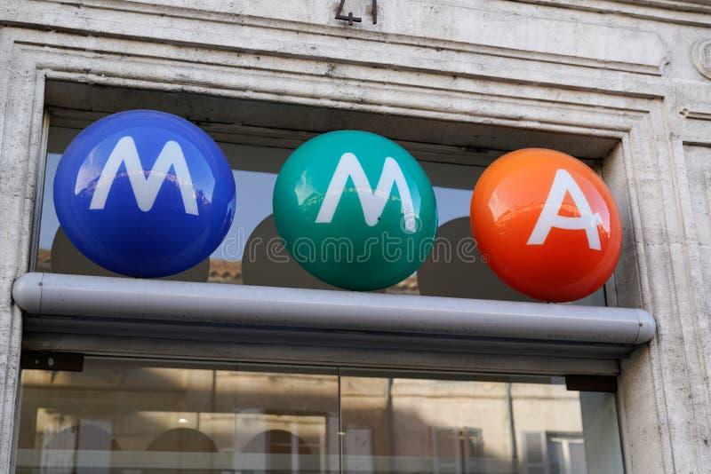 Bordeaux, Aquitaine/France - 12 04 2019 : mma Sign-Group-försäkringslogotyp - franskt ömsesidigt märkesarkiv royaltyfri foto