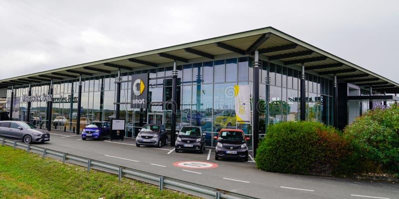Bordeaux , Aquitaine / France - 10 15 2019 : Smart car dealership sign store German automotive brand division shop of Daimler AG. Mercedes benz royalty free stock photo