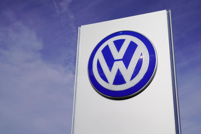 Bordeaux , Aquitaine / France - 10 27 2019 : Volkswagen dealership sign logo store German automaker shop Wolfsburg germany stock photos