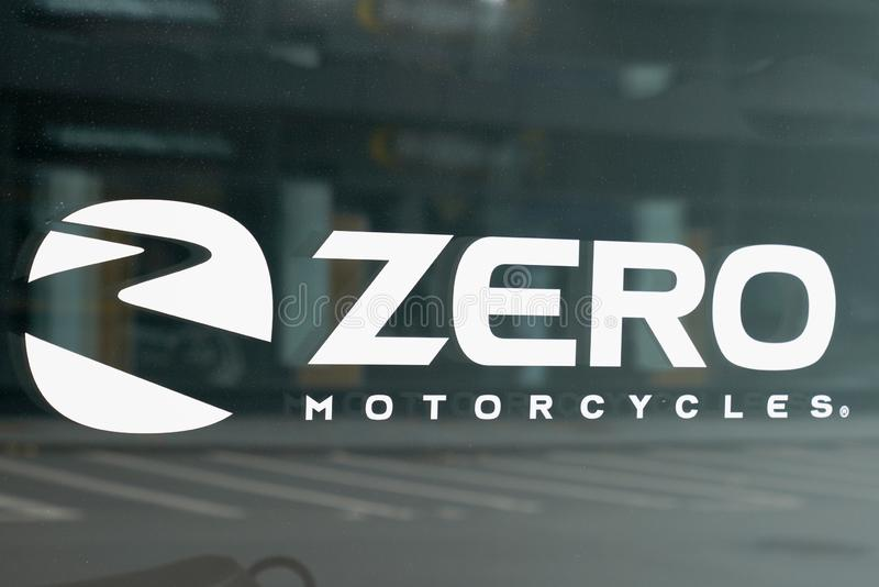 Bordeaux , Aquitaine / France - 10 14 2019 : zero motorcycles logo sign store modern american electric bike motorbike shop stock photo