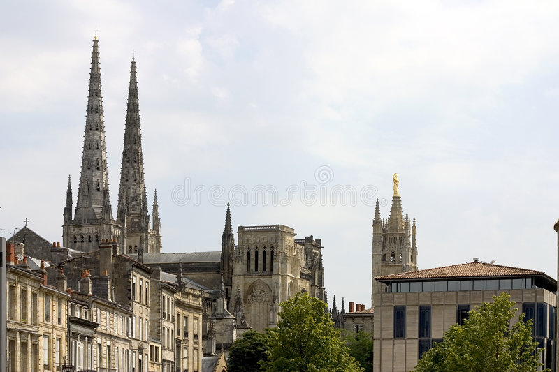 Download Bordeaux Cathedral, France stock image. Image of belfry - 1422257