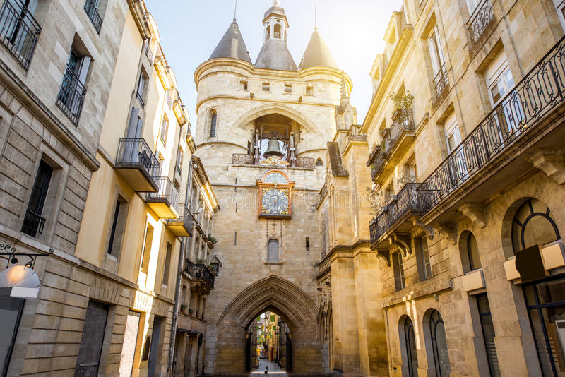 Bordeaux city in France stock photography