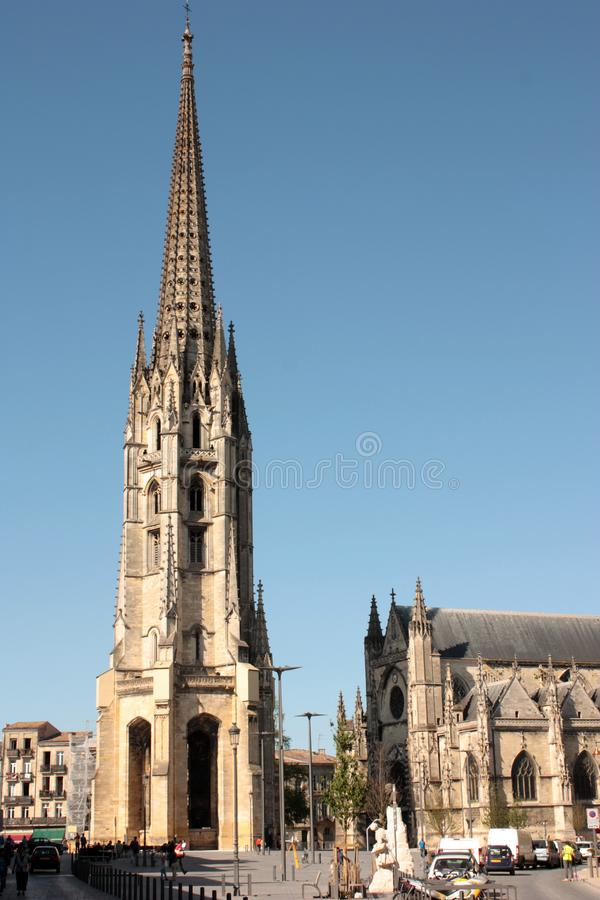 Bordeaux, France - Cathedral stock photography