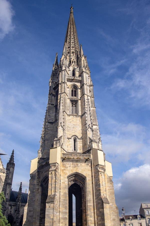 BORDEAUX, FRANKREICH - 5. JUNI 2017: Bordeaux-Kathedrale Cathedrale Heilig-Andre de Bordeaux stockbilder