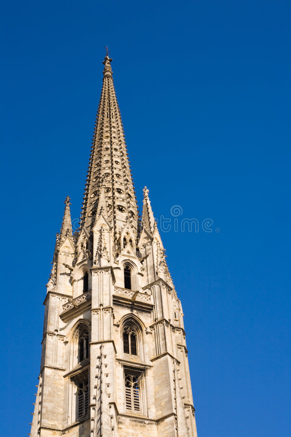 Bordeaux gothic cathedral stock photo