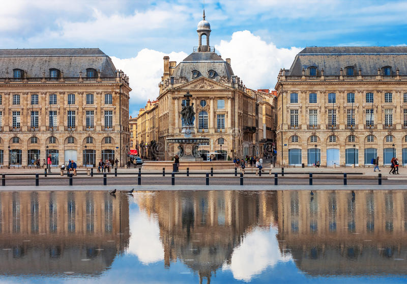 Bordeaux - Place de la Bourse immagine stock libera da diritti