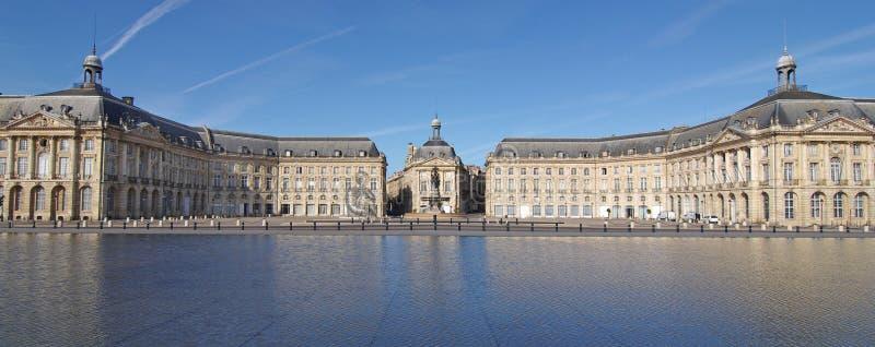 Bordeaux Place de la bourse. The Place de la Bourse in Bordeaux was designed by the royal architect Jacques Ange Gabriel between 1730 and 1775 royalty free stock photography