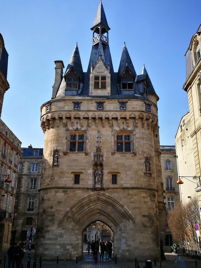 Bordeaux Porte Cailhau royaltyfria foton