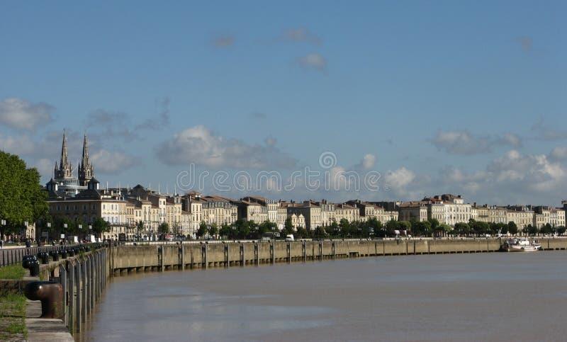 Bordeaux Quay immagine stock
