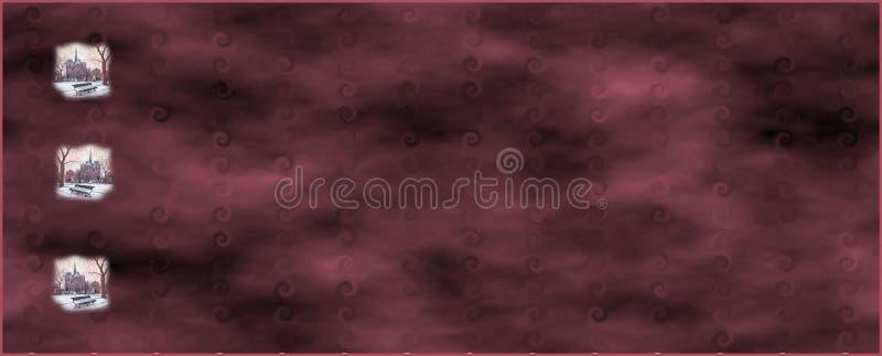 Bordeauxweb-Fahne stockfoto