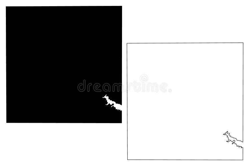 Borden County, de kaartvector van Texas vector illustratie