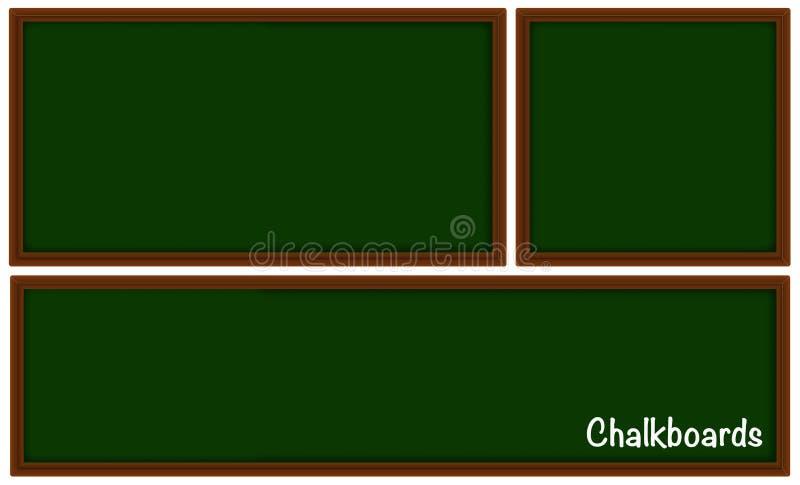 Borden in drie verschillende grootte royalty-vrije illustratie