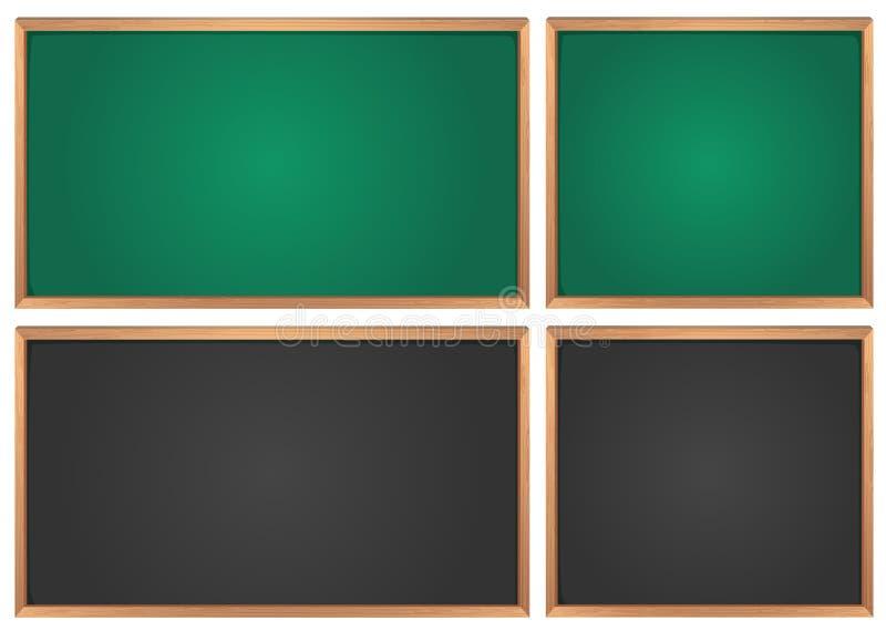 Borden in groen en zwart stock illustratie