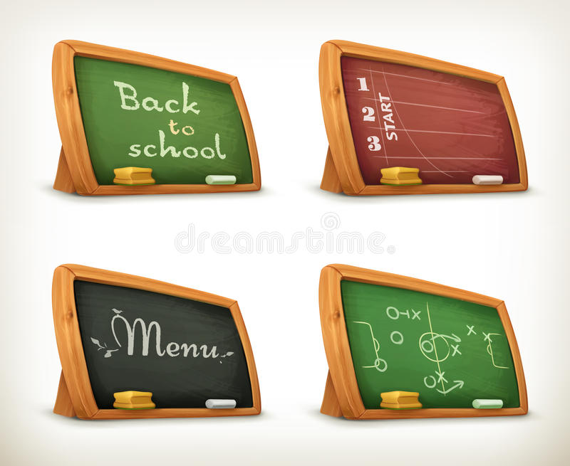 Borden, het menu van de schoolsport vector illustratie