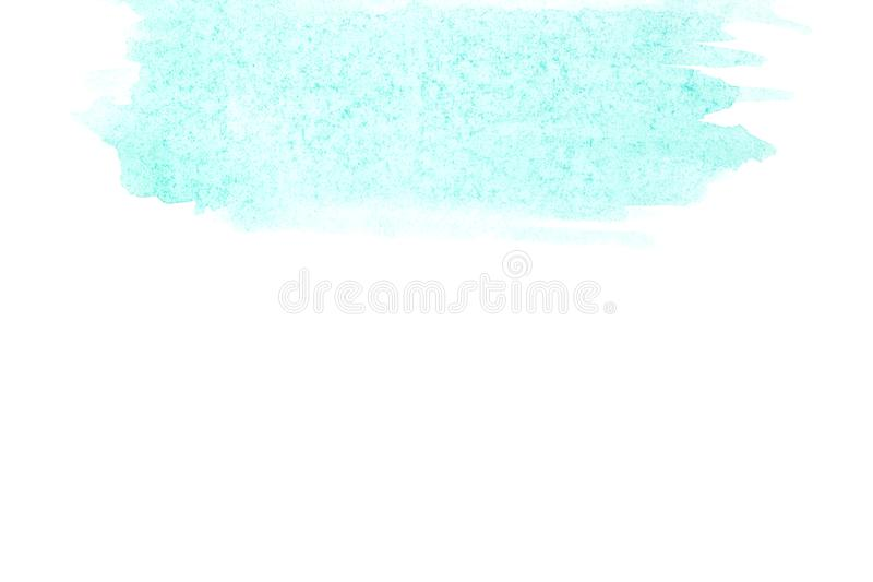 Border of abstract watercolor art hand paint on white background. Watercolor background royalty free stock images