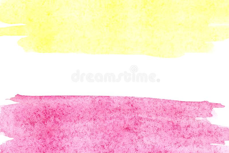 Border of abstract watercolor art hand paint on white background. Watercolor background. Border of abstract watercolor art hand paint isolated on white stock image