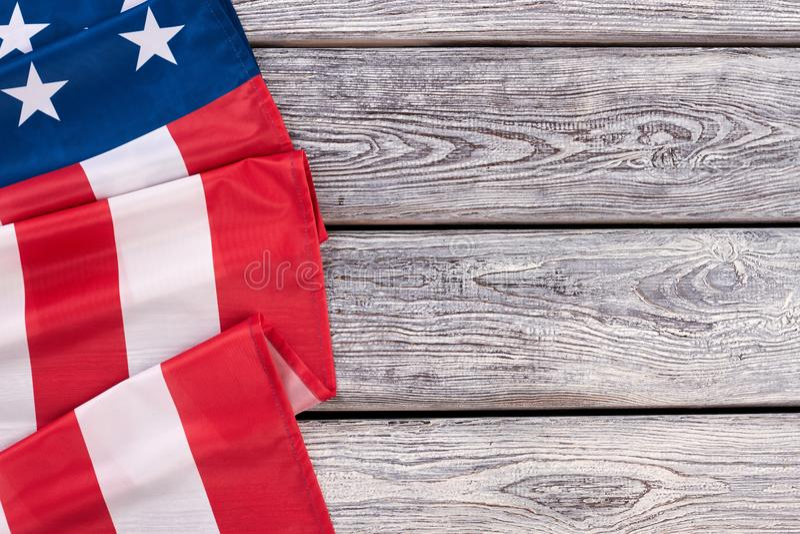 Border from American flag, horizontal image. royalty free stock photos