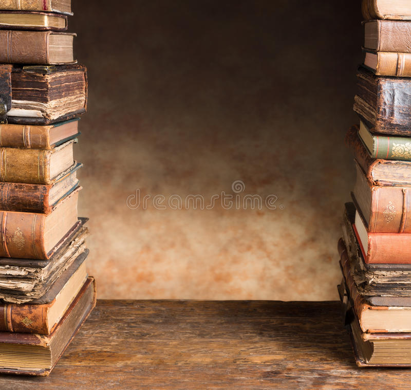 Download Border With Antique Books Stock Image - Image: 34137711