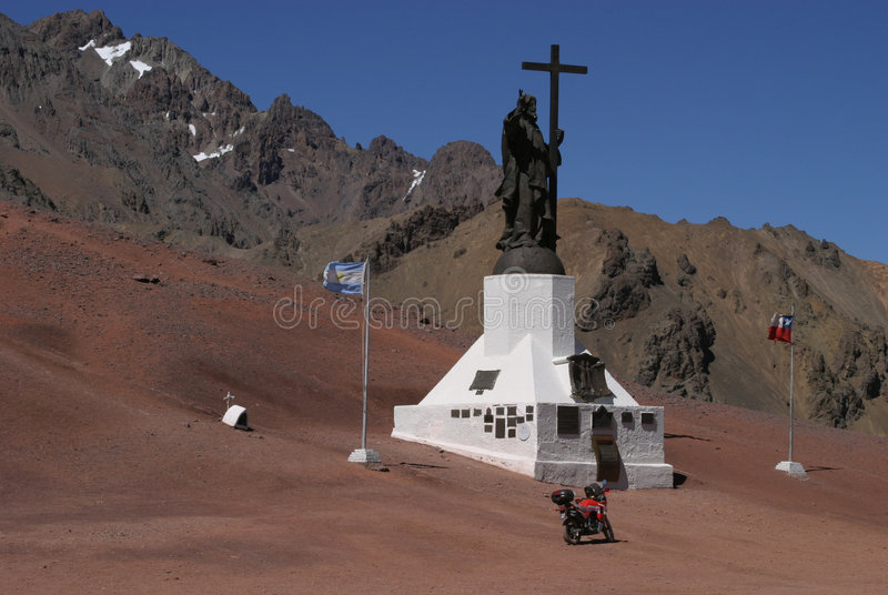 Border Argentina - Chile stock images