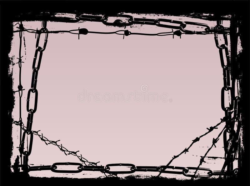 Border of Black Chains 2 vector illustration