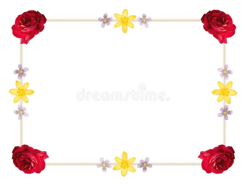 border blommaramen royaltyfri illustrationer