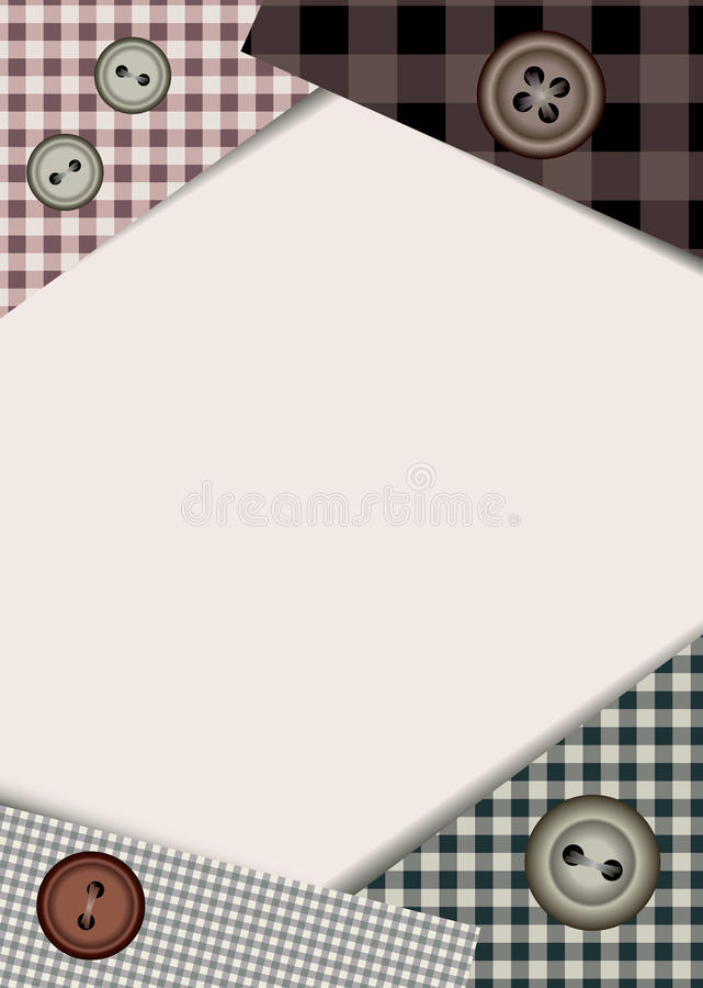 Download Border with buttons stock vector. Image of border, cloth - 21668778