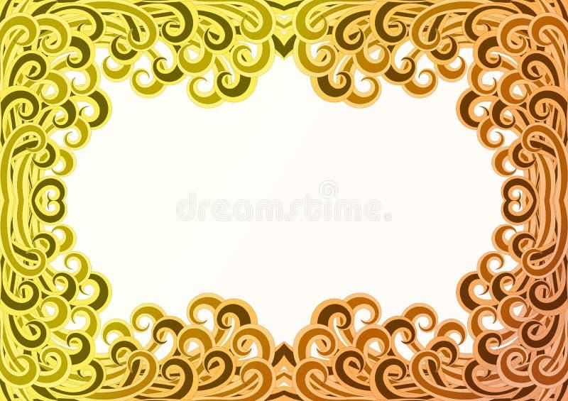 Desert Sand Storm Curls Frame vector illustration