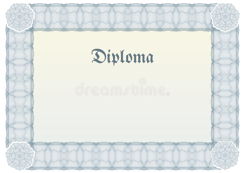 border certifikatdiplomguilloche royaltyfri illustrationer