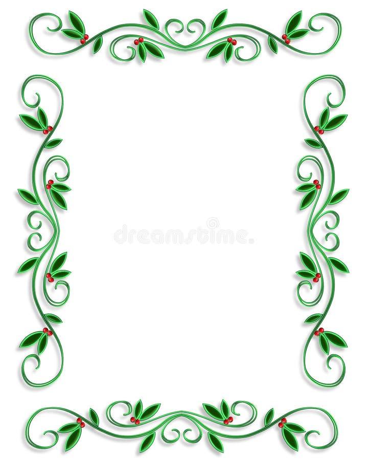 border christmas frame simple διανυσματική απεικόνιση